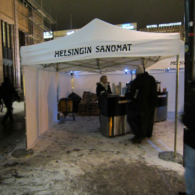 Helsingin Sanomat tabloidi-lehden lanseeraus 2013 - Eventgarden